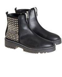 Twin Set - Leather And Suede Ankle Boots - Lyst