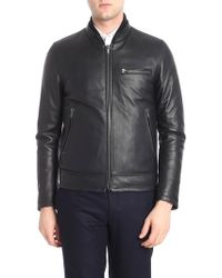 Orciani - Black Reversible Leather Jacket - Lyst