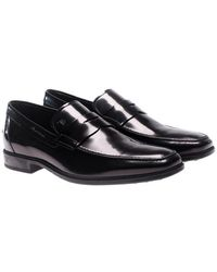 Tod's - Black Brushed Leather Loafers - Lyst