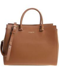 Lancaster Paris - Tan-colored Leather Handbag - Lyst