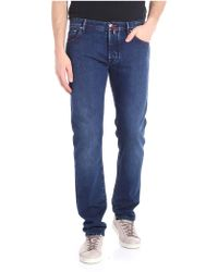 Jacob Cohen - Blue Jeans With Embroidered Logo - Lyst