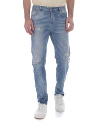 Dondup - Jeans Ivan azzurro effetto destroyed - Lyst