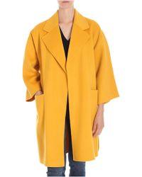 Theory - Cappotto Kimono giallo sfoderato overfit - Lyst