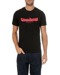 KENZO - Black T-shirt With Red Scope Print - Lyst