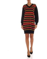 M Missoni - Black Dress With Contrasting Pattern - Lyst