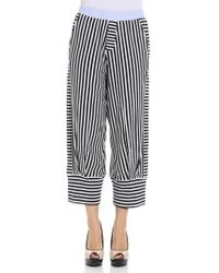 Manila Grace - Striped Trousers - Lyst