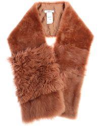 DESA NINETEENSEVENTYTWO - Peach Pink Fur Stole - Lyst