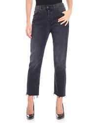 7 For All Mankind - Black Hw Josefina 5 Pocket Jeans - Lyst