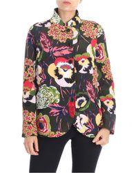 Aspesi - Green Floral Printed Jacket - Lyst