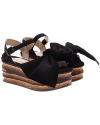 Paloma Barceló - Black Rosa Sandals - Lyst