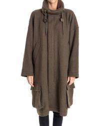 Zucca - Wool Coat - Lyst