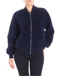 Sportmax - Blue Wool And Cotton Harry Bomber Jacket - Lyst