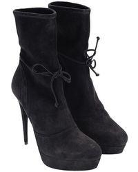 Miu Miu - Leather Boots - Lyst