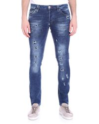 Philipp Plein - Blue Storm In A Teacup Jeans - Lyst