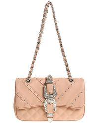 Mia Bag - Powder Pink Shoulder Bag With Buckles - Lyst