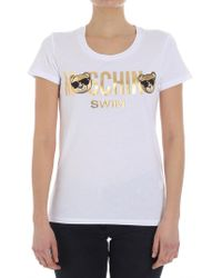 Moschino - Teddy Bear T-shirt With Logo ( Swim) - Lyst