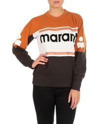 Étoile Isabel Marant - Gallian Ocher And Black Sweatshirt - Lyst
