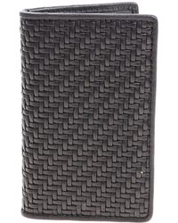 Ermenegildo Zegna - Black Braided Card Holder - Lyst