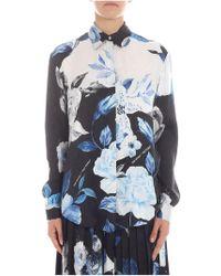 542cece4ba94 Lyst - Off-White C O Virgil Abloh Floral Asymmetric Shirt In Silk ...