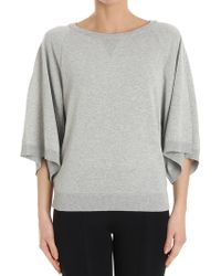 Erika Cavallini Semi Couture - Gray Mamie Sweater With Flared Sleeves - Lyst