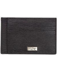 Ferragamo - Leather Card Holder - Lyst