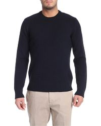 Paolo Pecora - Blue Pullover With Buttons - Lyst