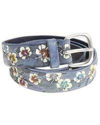 Orciani - Hibiscus Printed Leather Belt - Lyst