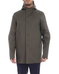 Herno - Green And Beige Reversible Coat - Lyst