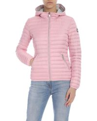 Colmar - Punk Down Jacket In Pink With Hood - Lyst