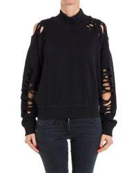 DIESEL - Cotton Sweatshirt - Lyst