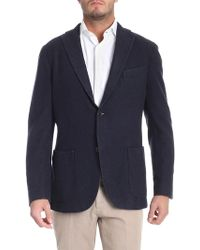 Boglioli - Blue Melange Two Buttons Jacket - Lyst