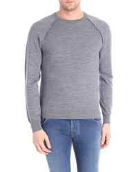 Paolo Pecora - Gray Pullover With Knitted Effect - Lyst