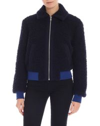 Paul Smith - Blue Wool Bomber - Lyst