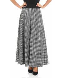Altea - Houndstooth Long Skirt - Lyst
