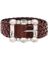 Orciani - Brown Masculine Belt With Rhinestone Buckle - Lyst