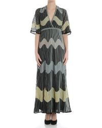 M Missoni - Black Dress With Multicolor Embroideries - Lyst