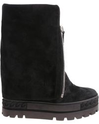 Casadei - Black Boots With Front Zip - Lyst