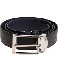 Montblanc - Reversible Black And Blue Belt - Lyst