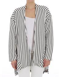 Manila Grace - Black And White Striped Cardigan - Lyst
