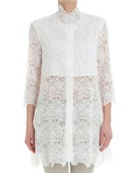 Ermanno Scervino - White Lace Shirt - Lyst