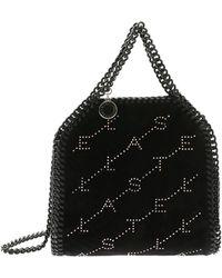 Stella McCartney - Mini Tiny Fallabella Bag With Black Velvet Effect - Lyst cb6f8aa654192