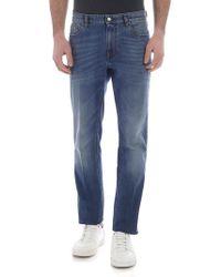 Z Zegna - Jeans skinny 5 tasche blu chiaro - Lyst