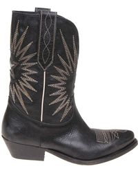Golden Goose Deluxe Brand - Black Wish Star Boots - Lyst