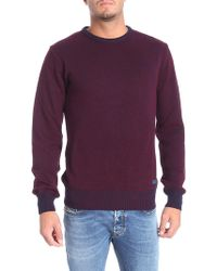 Trussardi - Blue And Burgundy Pullover - Lyst