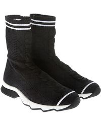 Fendi - Black Knitted Ankle Boots - Lyst