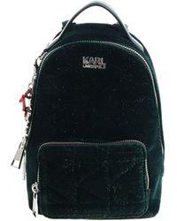 """Karl Lagerfeld - """"karl X Kaia Mini"""" Green Glittered Backpack - Lyst"""