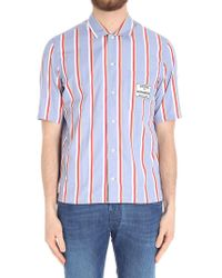 Maison Kitsuné - Striped Shirt With Short Sleeves - Lyst