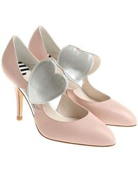 Lulu Guinness - Pink Pumps With Side Cut-outs - Lyst