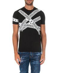 DSquared² - Black Tape T-shirt - Lyst