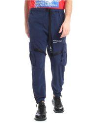 Off-White c/o Virgil Abloh - Blue Trousers Logo Details - Lyst